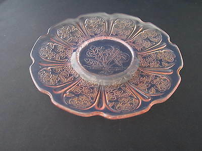 Jeanette Cherry Blossom  Pink Depression Glass Dinner Plate