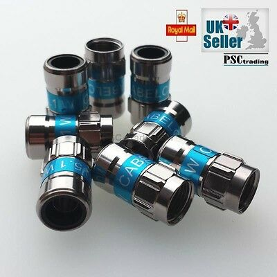 CABELCON 5.1 F CONNECTOR, COAX SELF-INSTALL COMPRESSION FITTING | 2, 4 or 8 Pack