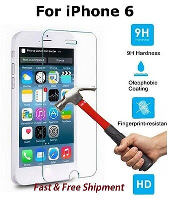 "For Iphone 6 6S 7 4.7"" Premium Tempered Glass 9H Screen Protector"