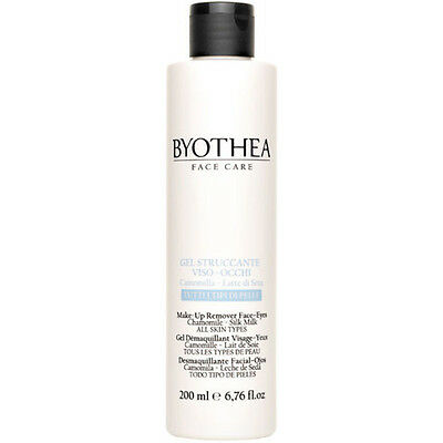 Make-Up Remover Face - Eyes 200ml Byotea ® Gel Struccante Viso-Occhi Latte Seta