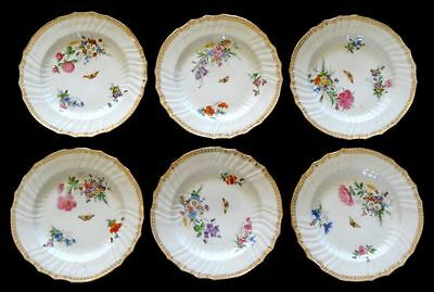 KPM BERLIN NEUOSIER DEKOR 36 SET OF SIX MULTI-COLOR DESSERT/SALAD PLATES