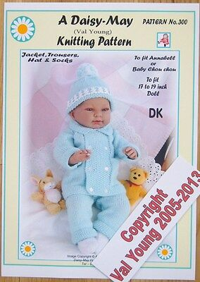 Daisy May Dolls Knitting Patterns : Vintage knit pattern for a 13 inch doll