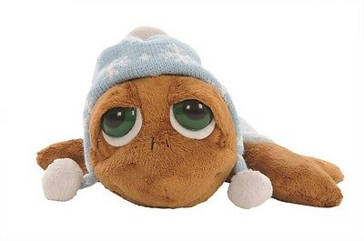 Branded Soft Toys Lil/Li'l Peepers Small 15.2cm Rocky Turtle & Suedette Hat Soft Toy by Suki Plush