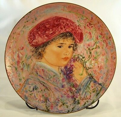 """Limited Edition EDNA HIBEL """"Le Marquis Maurice Pierre"""" Classic Rose Plate w/ COA"""