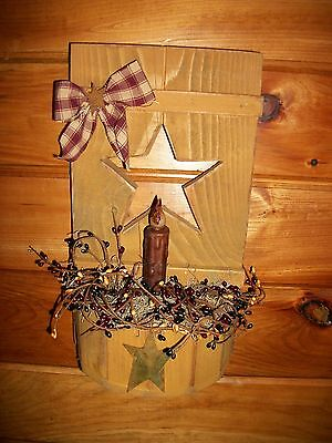 PRIMITIVE MUSTARD SHUTTER SCONCE/Country/Rustic/Distressed