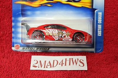 '03 Hot Wheels HIGHWAY 35 moc YU-GI-OH! 3 pk only RED Custom Cougar YUGI-MUTO