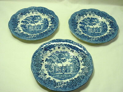 "Set of 3 J&G Meakin Romantic England 6 7/8"" Dessert/Pie Plates"