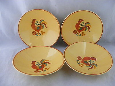 "4 Reveille Rooster 5.75"" Fruit Dessert Bowls Taylor Smith Taylor Good Condition"