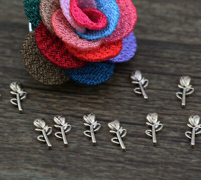 *10pcs flower Spray Floating Charms for Glass Memory Locket necklace e2073