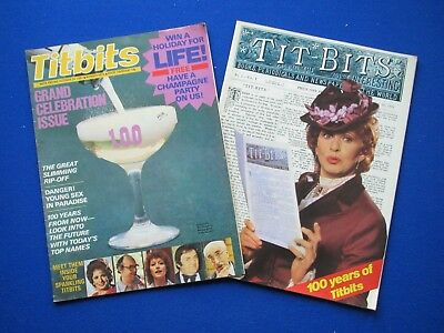Titbits Magazine - 100 years issue,  Pat Phoenix , Tony Booth  24th  Oct. 1981