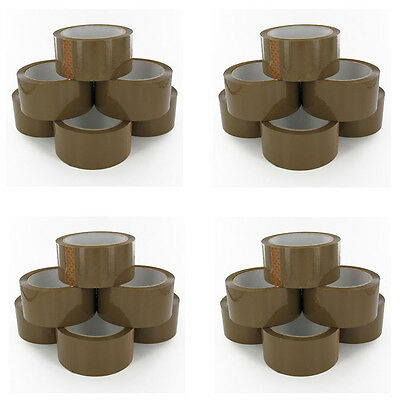 Rolls Of Brown Buff Parcel Packing Tape Packaging Carton Sealing 48Mm X 66M