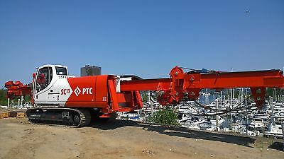 Stone Column Vibro Compaction Drill Rig Bottom Feed Ground Improvement Machine