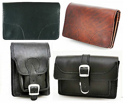 Belt Looped Camera Cell Iphone Bullhide Leather Pouch Wallet Purse Satchel Bag