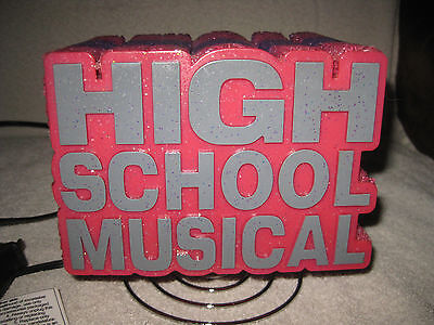 HIGH SCHOOL MUSICAL~ELECTRIC~NITE LITE/LAMP~RUBBER W/A COILED METAL SPRING STAND