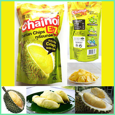 Durian Chips Thai Fruit Snack Vacuum freeze-dried Durian Monthong Premium No MSG