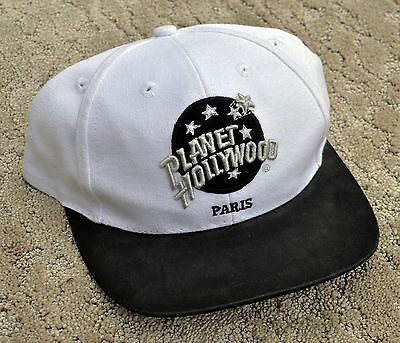 "Vintage ""PARIS"" 1995 PLANET HOLLYWOOD Baseball Golf Cap Hat"