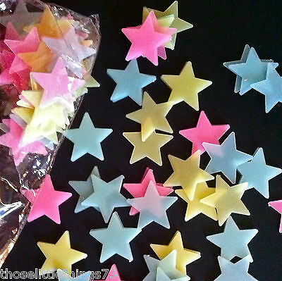 Glow in the dark stars coloured shapes for bedroom ceiling wall kids nursery