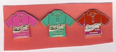 My Collection Sale - 3 Coca Cola  Lapel Pins