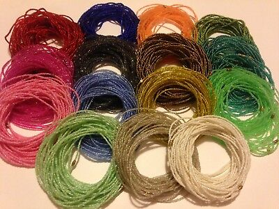 African Waist Beads - Belly Chain LIMITED EDITION 2/3mm Acrylic Glass Seed Beads