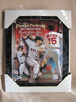 2007 MLB Boston Red Sox Rookie of the Year Dustin Pedroia Plaque-Baseball
