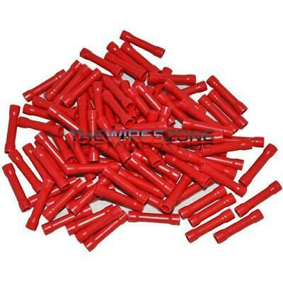 The Install Bay by Metra RVBC Red 22/18 Gauge Vinyl Butt Connectors 100 Pack
