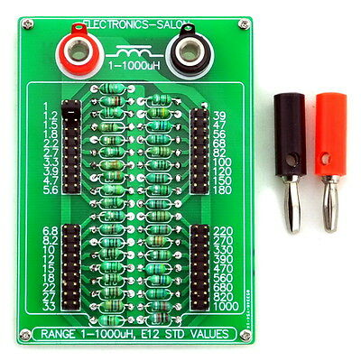 1uH to 1000uH E12 Standard 37 Values Programmable Inductor Board.