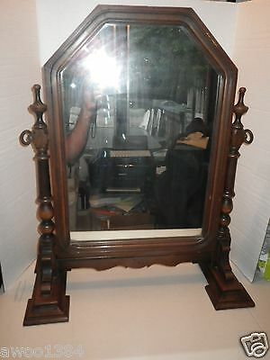 Antique Karpen Furniture Company Vanity Table Mirror with Wood Stand & Frame