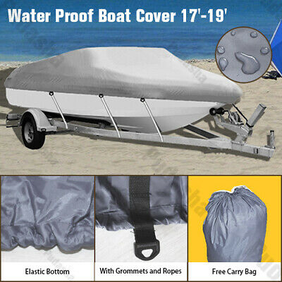 14-16 ft Waterproof Heavy Duty Trailable Boat Cover V-Hull 90 inch Beam GBT1H