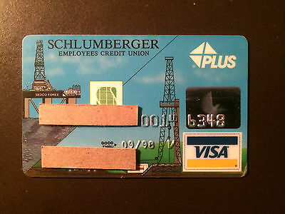 Schlumberger Oil and Gas Company 1998 Vintage Collectors Credit Card