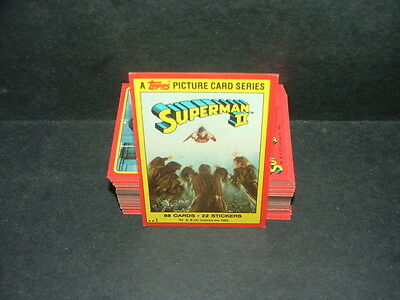 Complete 88 Card Set Superman II Cards Topps & DC Comics 1980 Uncirculated