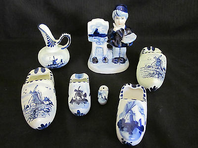 ~VINTAGE DELFT BULK LOT - WINDMILLS BLUE & WHITE - MADE by DELFT - VGC~