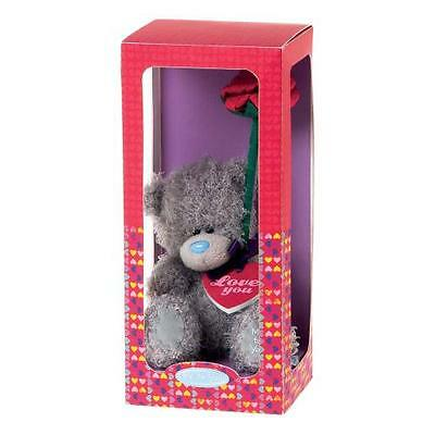 Carte Blanche Tatty Teddy Me To You - 13cm Bear with Red Rose & Love You Plaque