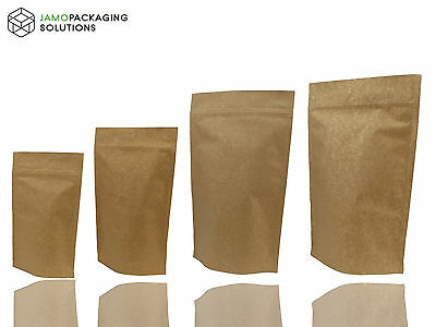 STAND UP KRAFT PAPER/ALUMINIUM POUCH/HEAT SEAL /ZIP LOCK/250-1000 ml/FOOD GRADE