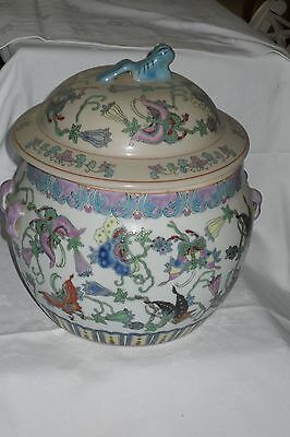 Chinese Famille Rose Porcelain jar with lid