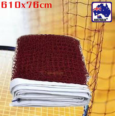 Training Standard Braided Badminton Replacement Net Netting 6.1X0.76m OBNET6176