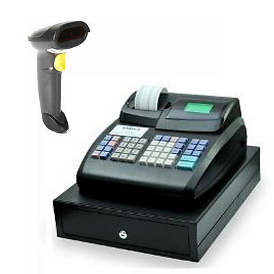 CR800 Electronic Cash Register with Locking Cash Drawer + Barcode Scanner