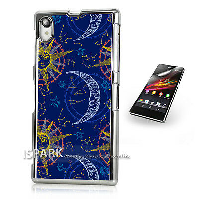 Beautiful Moon and Sun Sony Xperia Z3 Silver Print Case Cover S2275 S
