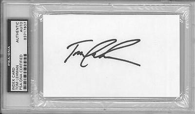 Tom Lehman Signed Authentic Autographed 3x5 Index Card Slabbed PSA/DNA #83717807