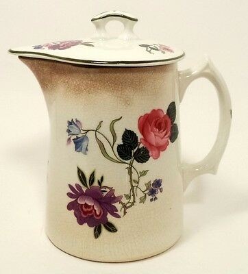 EDWIN M KNOWLES CHINA VITREOUS 22-1-5 COFFEE TEA POT WITH LID