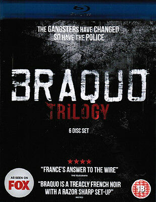 Braquo Trilogy NEW Series Blu-Ray 6-Disc Set Olivier Marchal Jean-Hugues Anglade