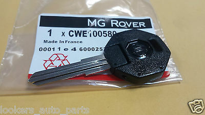 Genuine MG Rover Key Blank BRAND NEW      TO FIT : ALL MGF & MGTF Models