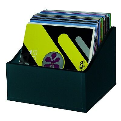 """Glorious Black Record Box Advanced - Wooden Holder for 110 12"""" Vinyl Records"""