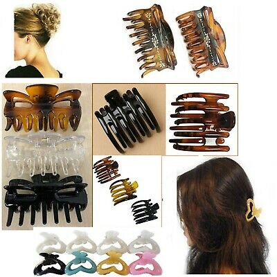 3 Claw Clips Hair Clamp LARGE Clamps Butterfly Grip Bulldog Up Updo Styling Clip