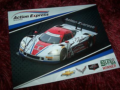 Photo signée  / Signed  Card BARBOSA & FITTIPALDI Corvette Action Express 2014//