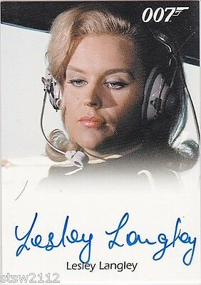 James Bond Mission Logs Fb Lesley Langley Flying Circus Pilot Autograph Limited