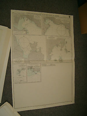 Vintage Admiralty Chart 1196 PORTS & ANCHORAGES IN EAST GREECE 1957 edition