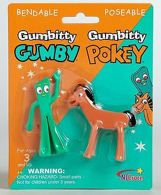 """GUMBY & POKEY - Bendable, Poseable Figures - Gumbitty - Gumby 2.5"""" tall - NEW"""