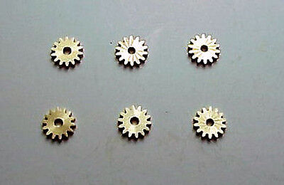 MODEL MOTORING T-JET & AFX (6) NEW 14 TOOTH  ARMATURE GEARS FITS AURORA CHASSIS