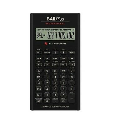 Texas Instruments BAII Plus Professional Financial Calculator /GENUINE