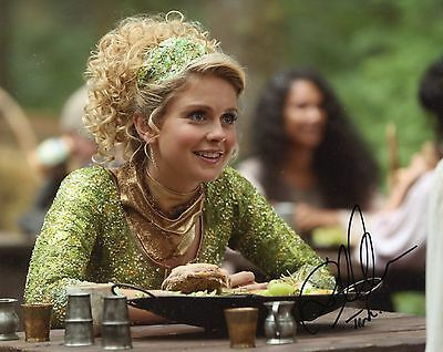 Rose McIver Signed 8x10 Once Upon a Time w/Character Name Tink Exact Proof